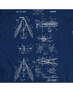 Fishing Lure Tackle Lure Bass Baits Hooks Bait Crankbait Patent T-shirt Mens Gift Idea 100% Cotton Birthday Present