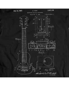 Gibson Electric Guitar Paul Les Patent T-shirt Mens Gift Idea 100% Cotton Birthday Present