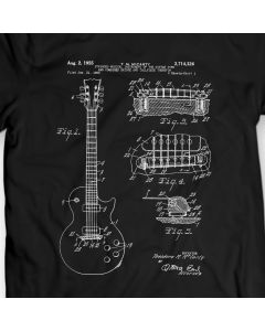 Gibson Les Paul Guitar Patent T-Shirt Mens Gift Idea Music Tee Holiday Gift Birthday Present