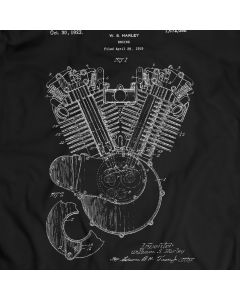 Motorcycle Engine Harley Davidson 1923 Patent T-Shirt Holiday Gift Birthday Present