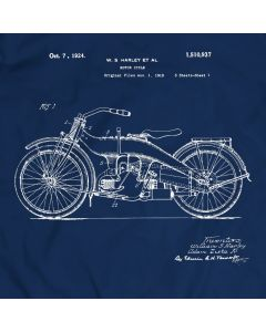 Harley Davidson Engine 1923 Patent T-Shirt Motorcycle Gift Holiday Gift Birthday Present