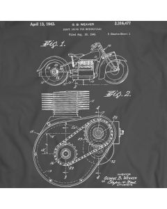 Shaft Drive Motorcycle Patent Motorbike T-shirt Mens Gift Idea 100% Cotton Birthday Present