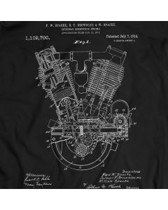 Internal Combustion Engine Patent Motorbike T-shirt Mens Gift Idea 100% Cotton Birthday Present