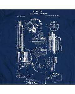 Mason Revolver from 1875 T-Shirt Mens Gift Idea 100% Cotton Hand Gun Holiday Gift Birthday Present