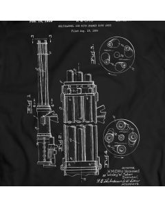Multibarrel Gun Skewed Bore Axes T-Shirt Mens Gift Idea 100% Cotton Holiday Gift Birthday Present
