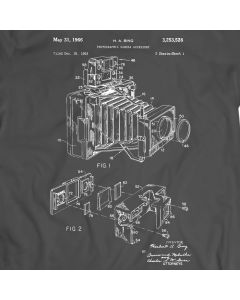 Photographic Camera Patent T-Shirt Mens Gift Idea Photography Art, Camera Art, Photography Patent Holiday Gift Birthday Present