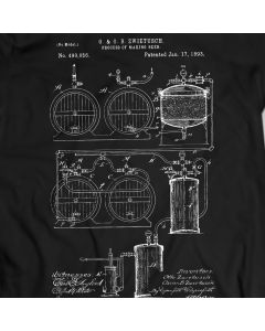 Process Of Making Beer Patent T-Shirt Mens Gift Idea 100% Cotton Holiday Gift Birthday Present