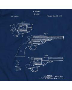 Revolving Fire-Arms Patent T-Shirt Unisex/Mens Gift Idea 100% Cotton William Mason Holiday Christmas Gift Birthday