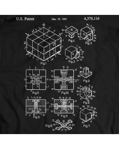 Rubik's Cube Patent T-Shirt 3D combination puzzle Magic Cube Gift Idea