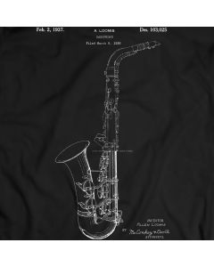 Saxophone Alto Sax Mendini Tuner Tenor Patent T-shirt Mens Gift Idea 100% Cotton Birthday Present