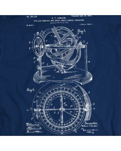 Stellar Compass Circle Course Projector Patent T-Shirt Mens Gift Idea 100% Cotton Holiday Gift Birthday Present