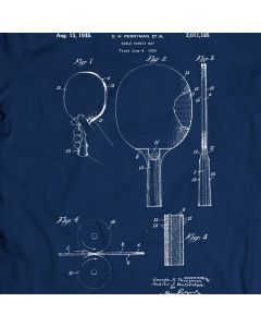 Table Tennis Bat - Perryman Paddle 1935 T-Shirt