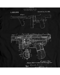 Tommy Gun 1922 PuBg Winner Winner Chicken Dinner T-Shirt