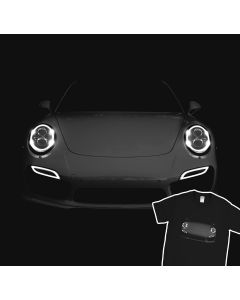 Turbo S  Porsche 991 T-Shirt Mens Gift Idea Headlights Glow