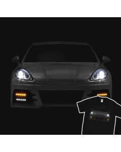 Porsche Panamera 2012 Turbo T-Shirt Front Lights