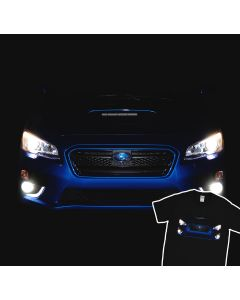 Subaru WRX 2015 LED Headlights Glow T-Shirt