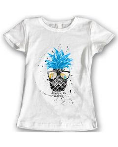 Pineapple T-Shirts Watercolor Ladies Gift Idea 100% Cotton
