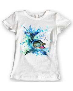Dolphin T-Shirts Watercolor design Ladies Gift Idea 100% Cotton S to XL Holiday Christmas Gift Birthday