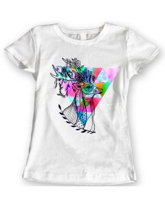 Deer with Flowers Summer 2016 T-Shirts Watercolor Ladies Gift Idea 100% Cotton