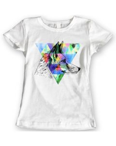 Fox T-Shirts Watercolor Ladies Gift Idea 100% Cotton